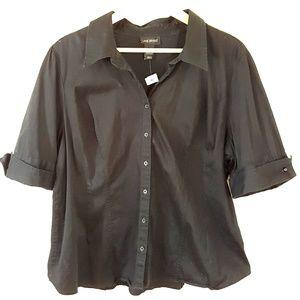 LANE BRYANT Plus Size Button Down Blouse, NWT